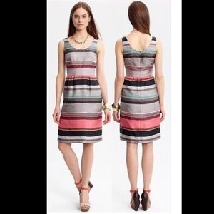 Banana Republic MultiColor Stripe Casey Silk Dress